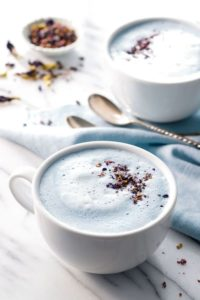 cappuccino blue butterfly pea